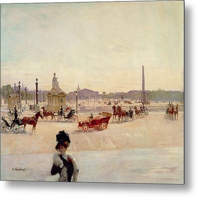Place De La Concorde - Paris  Metal Print