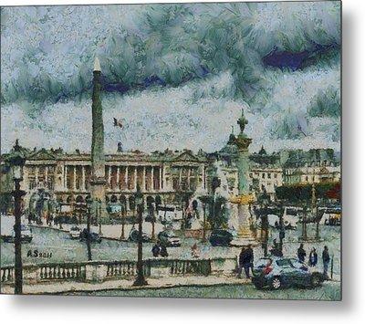 Place De La Concorde Metal Print by Aaron Stokes