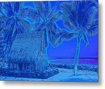 Place Of Refuge In Blue Metal Print by Kerri Ligatich