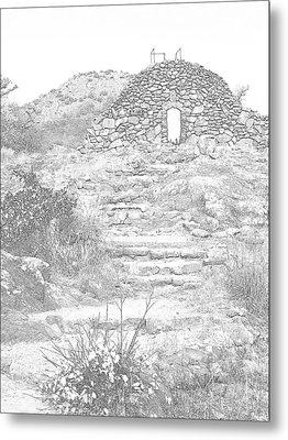 Place Of The Tomb Metal Print by Mickey Harkins