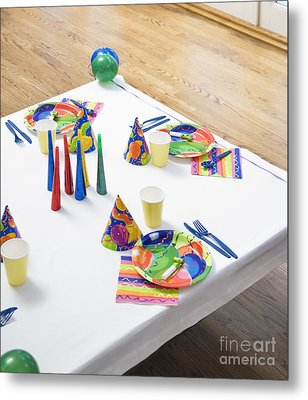 Place Settings For A Birthday Party Metal Print