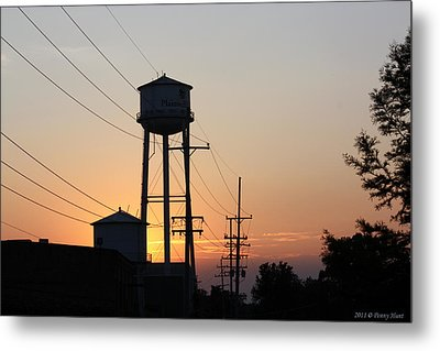 Metal Print featuring the photograph Plainwell Paper Sunset by Penny Hunt