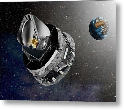 Planck Space Observatory, Artwork Metal Print by David Ducros