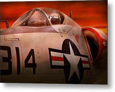 Plane - Pilot - Airforce - Go Get Em Tiger  Metal Print by Mike Savad