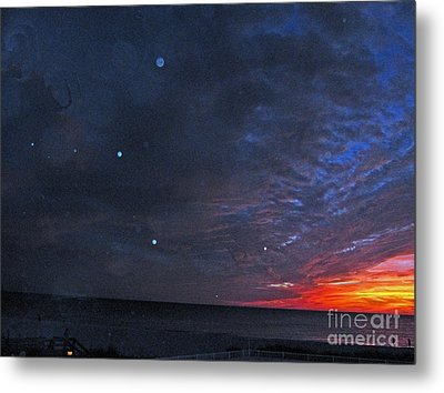 Planets Revealed At Sunset Metal Print by Joan McArthur
