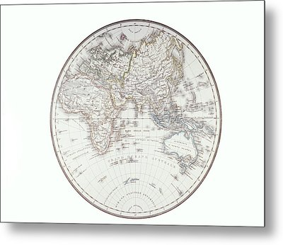 Planispheric Map Of The Eastern Hemisphere Metal Print by Fototeca Storica Nazionale