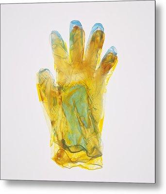 Plastic Glove Metal Print by Kevin Curtis