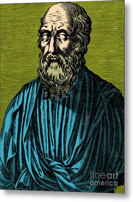 Plato, Ancient Greek Philosopher Metal Print by Photo Researchers