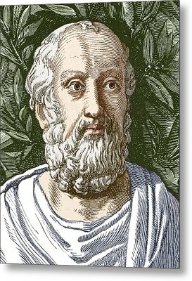 Plato, Ancient Greek Philosopher Metal Print