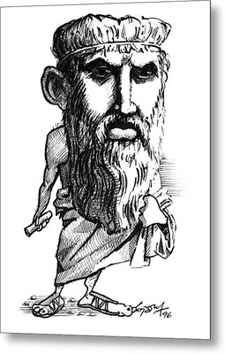 Plato, Caricature Metal Print by Gary Brown