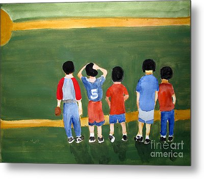 Play Ball Metal Print by Sandy McIntire
