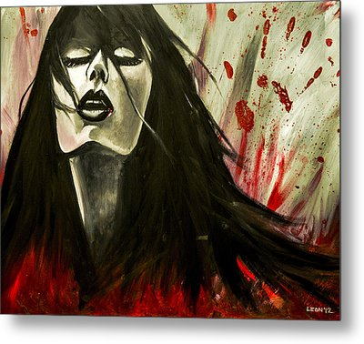 Play In Your Blood Metal Print by Chris  Leon