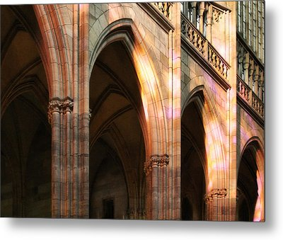 Play Of Light And Shadow - Saint Vitus' Cathedral Prague Castle Metal Print by Christine Till