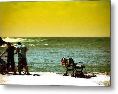 Playing At Beach Metal Print by Nilay Tailor