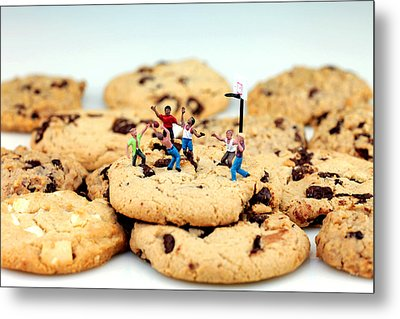 Playing Basketball On Cookies Metal Print by Paul Ge