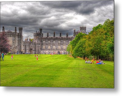 Playing In The Castle Metal Print by Barry R Jones Jr