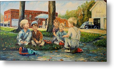 Playing Trucks Metal Print by Daniel W Green