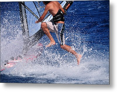 Playing With The Waves Metal Print by Manolis Tsantakis