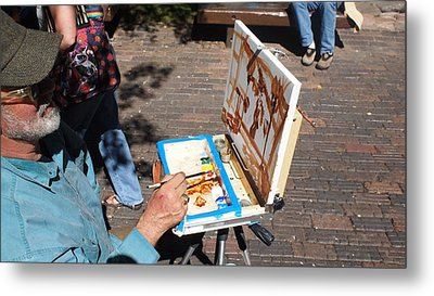 Plein Air At Aspen  Metal Print