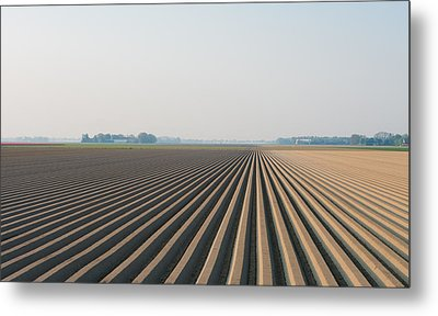 Plowed Field Metal Print by Hans Engbers