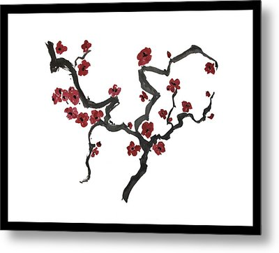 Plum Blossoms Metal Print by Alethea McKee