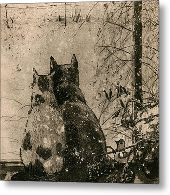 Plusha And Musya Metal Print by Aleksey Zuev