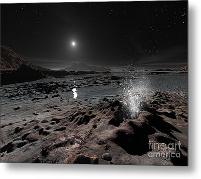 Pluto May Have Springs Of Liquid Oxygen Metal Print by Ron Miller