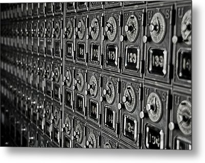 Metal Print featuring the photograph Po Box by Randall  Cogle