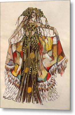 Pocahontas Metal Print by Karine Percheron-Daniels