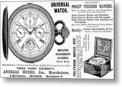 Pocket Watch, 1897 Metal Print by Granger