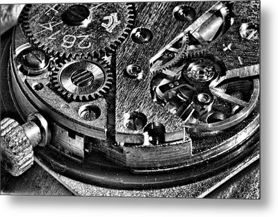 Pocket Watch Mechanism Metal Print by Maxim Sivyi