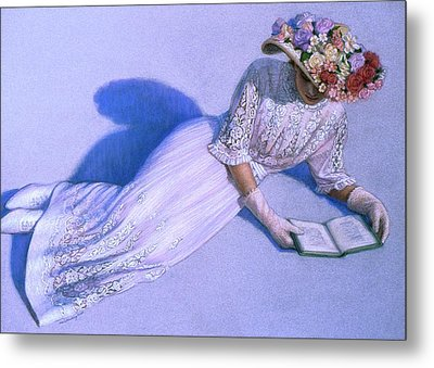 Metal Print featuring the painting Poetic Moment by Sue Halstenberg