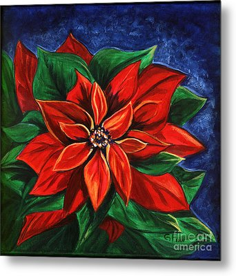 Poinsetta Metal Print