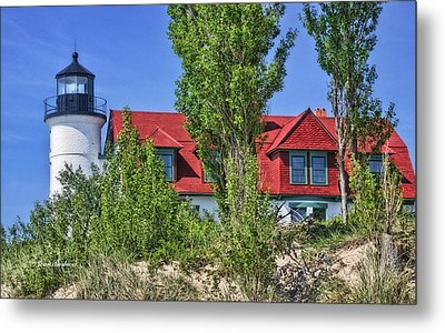 Metal Print featuring the photograph Point Betsie Lighthouse by Joan Bertucci