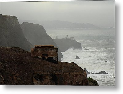 Metal Print featuring the photograph Point Bonita Lighthouse And Battery by Scott Rackers