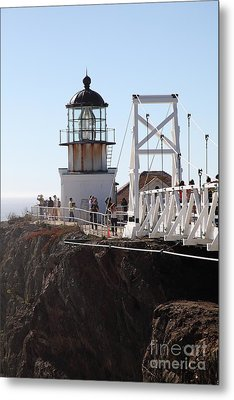 Point Bonita Lighthouse In The Marin Headlands - 5d19667 Metal Print
