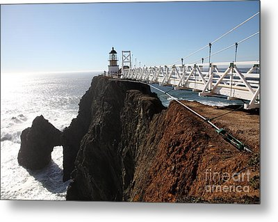 Point Bonita Lighthouse In The Marin Headlands - 5d19668 Metal Print