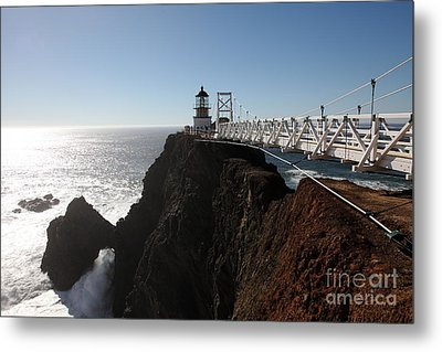 Point Bonita Lighthouse In The Marin Headlands - 5d19673 Metal Print