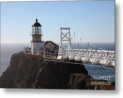 Point Bonita Lighthouse In The Marin Headlands - 5d19697 Metal Print