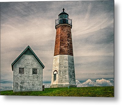Point Judith Light Metal Print by Fred LeBlanc