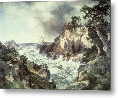 Point Lobos At Monterey In California Metal Print by Thomas Moran