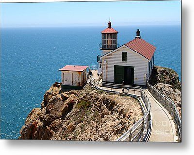 Point Reyes Lighthouse In California 7d16001 Metal Print by Wingsdomain Art and Photography