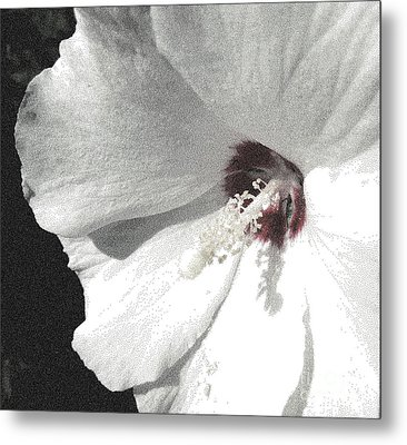 Pointillized Althea Flower Metal Print