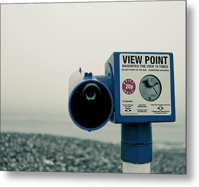 Pointlessness Is Pointing Telescope Metal Print by Andy Teo aka Photocillin