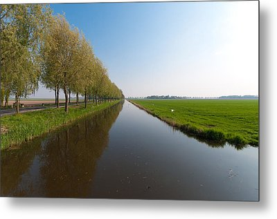 Metal Print featuring the photograph Polder Ditch by Hans Engbers