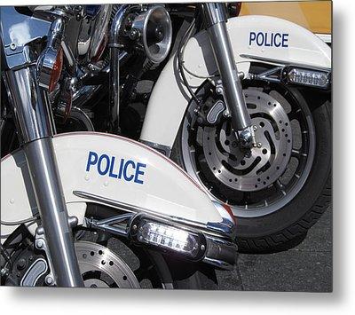 Police Wheels Metal Print by Alfred Ng