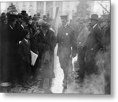 Policeman Leads An Arrested National Metal Print by Everett