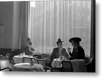 Polish Cafe Metal Print by August Darwell