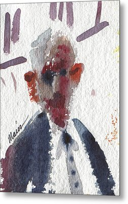 Politician Metal Print by Donald Maier