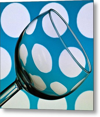 Metal Print featuring the photograph Polka Dot Glass by Steve Purnell